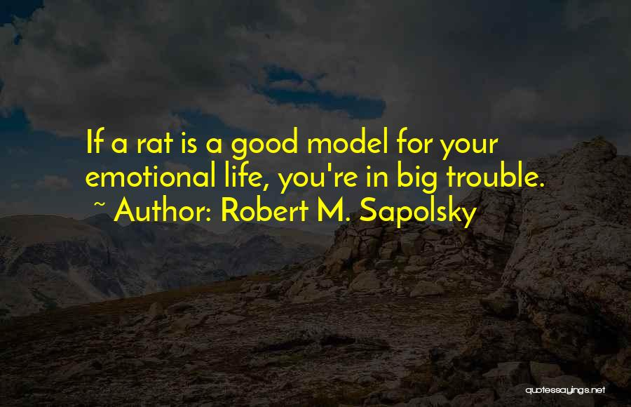 Good Emotional Life Quotes By Robert M. Sapolsky