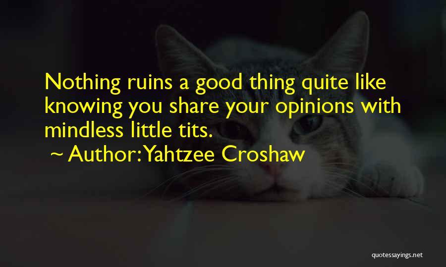 Good Funny True Quotes By Yahtzee Croshaw