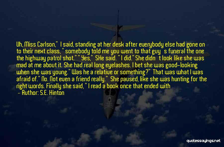 Good Guy Friend Quotes By S.E. Hinton