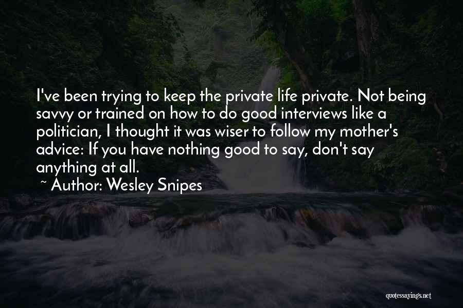 Good Interviews Quotes By Wesley Snipes