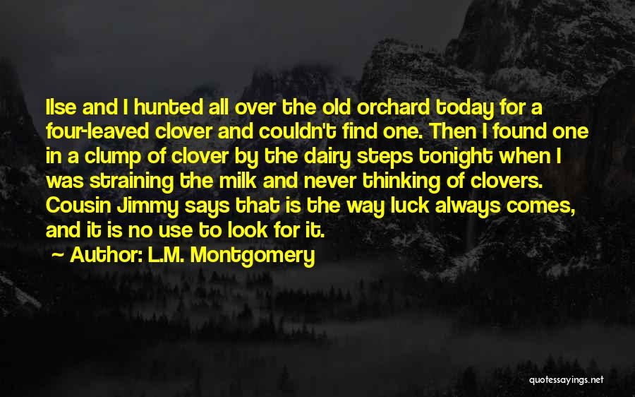 Good Luck Tonight Quotes By L.M. Montgomery