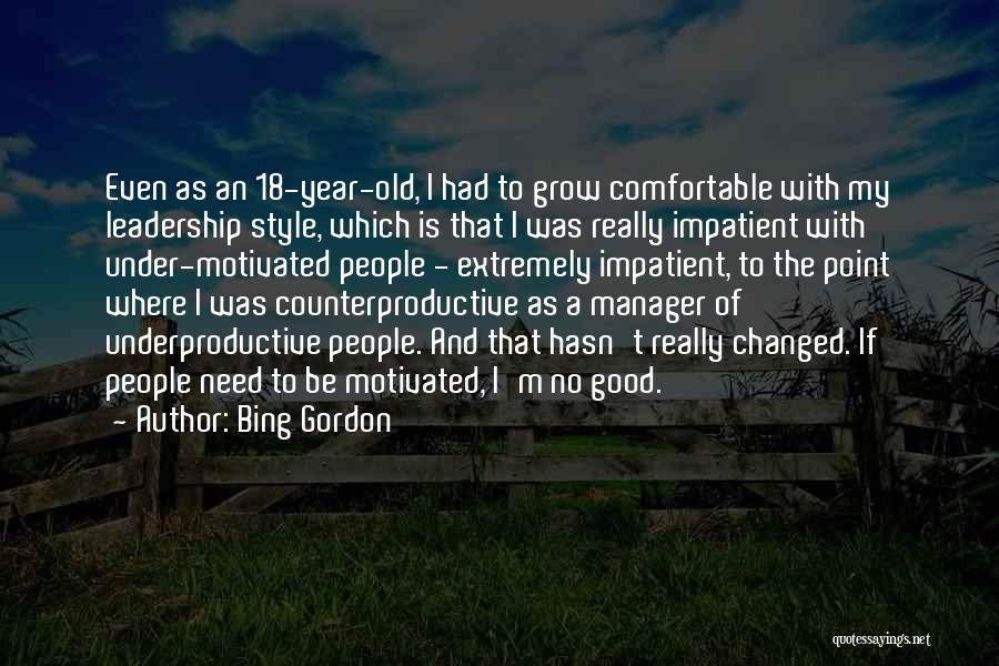 Good Manager Quotes By Bing Gordon