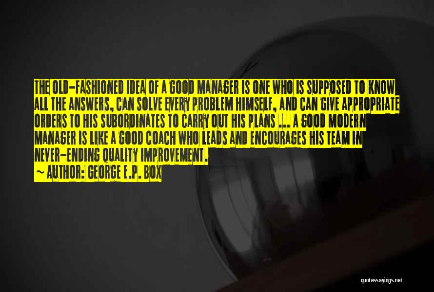 Good Manager Quotes By George E.P. Box