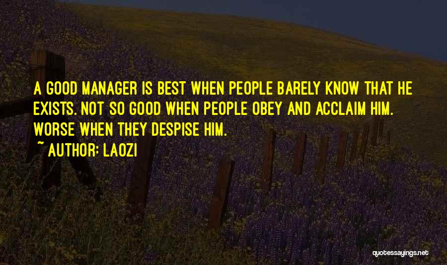 Good Manager Quotes By Laozi