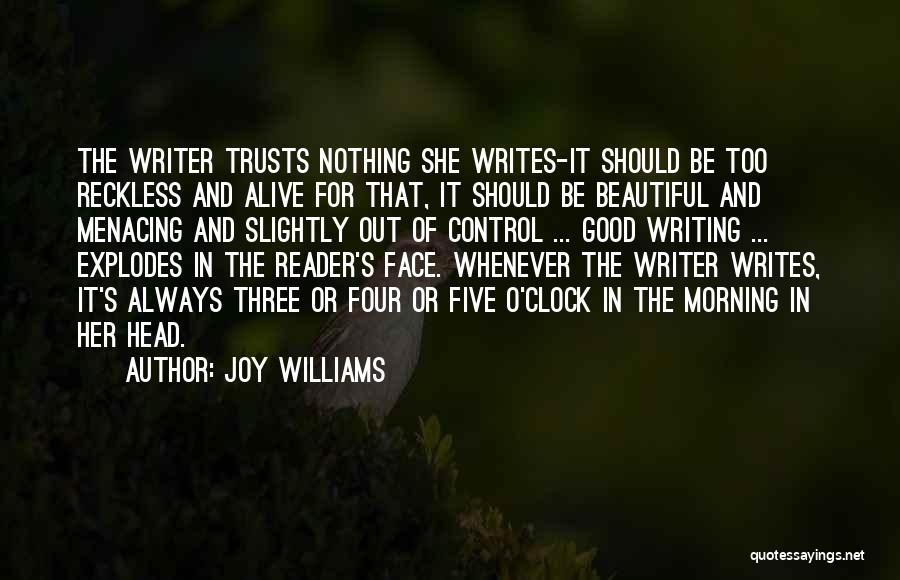 Good Morning For Quotes By Joy Williams
