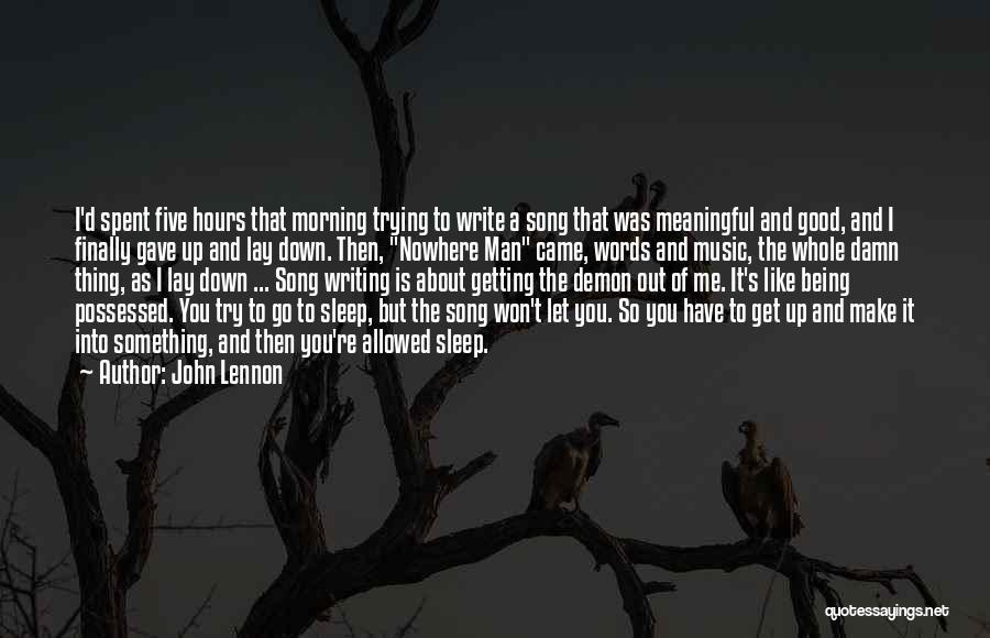 Good Morning Quotes By John Lennon