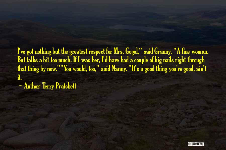 Good Nanny Quotes By Terry Pratchett