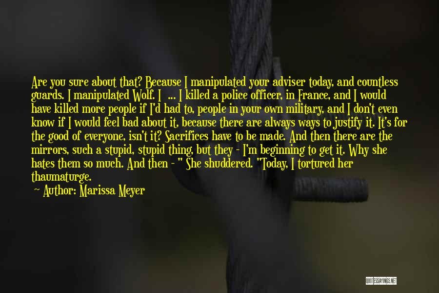 Good Police Officer Quotes By Marissa Meyer