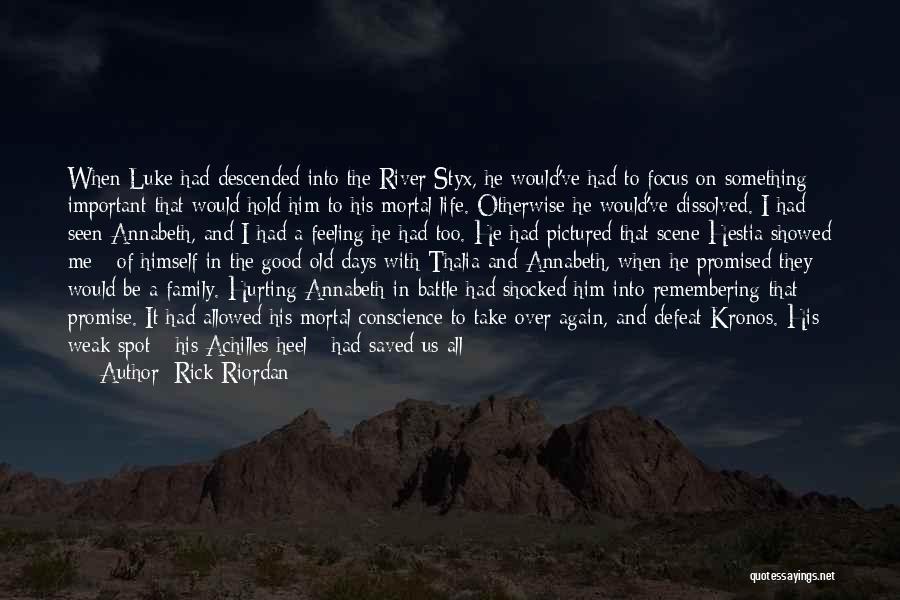 Good Remembering Life Quotes By Rick Riordan