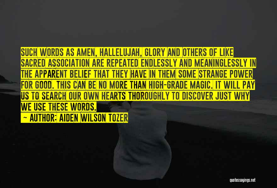 Good Search Quotes By Aiden Wilson Tozer