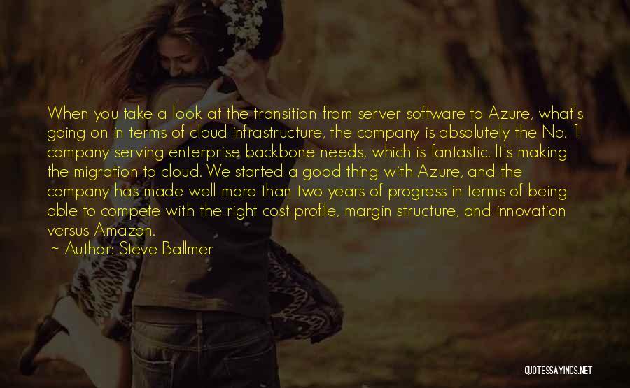 Good Server Quotes By Steve Ballmer