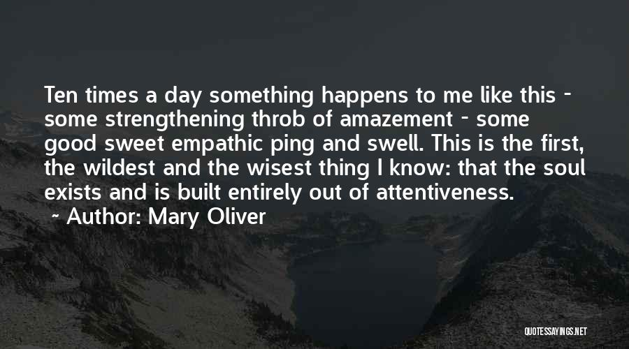 Good Strengthening Quotes By Mary Oliver