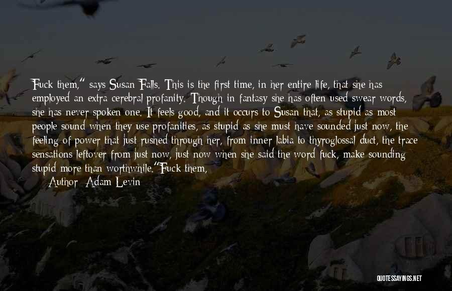 Good Swear Quotes By Adam Levin
