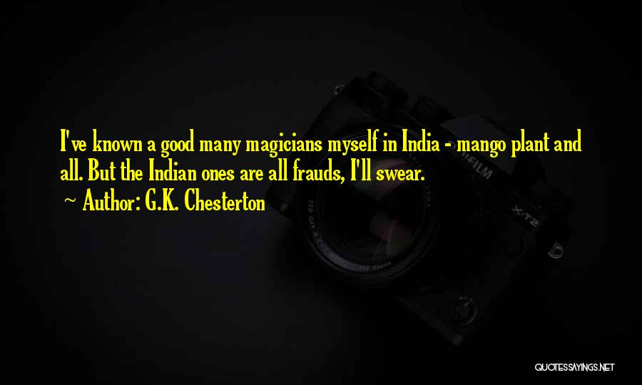 Good Swear Quotes By G.K. Chesterton