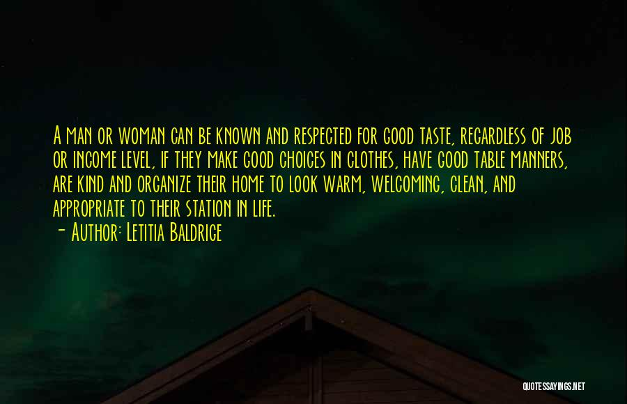 Good Table Manners Quotes By Letitia Baldrige