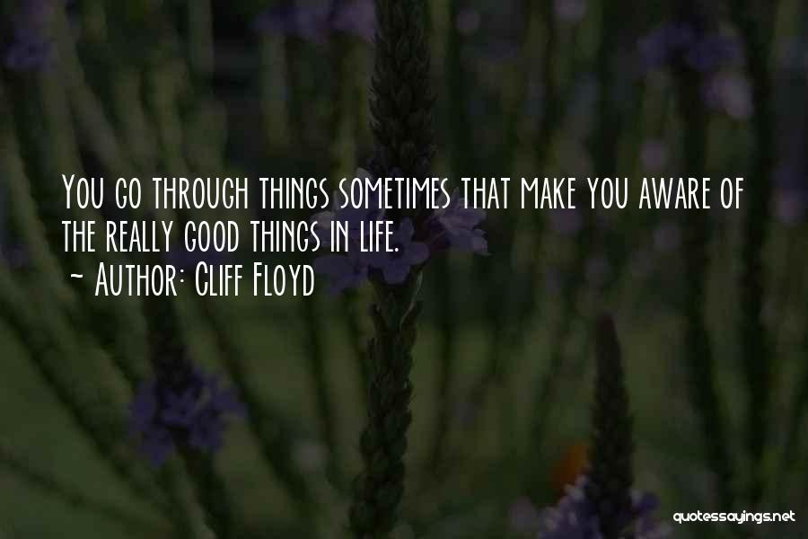 Good Things In Life Quotes By Cliff Floyd