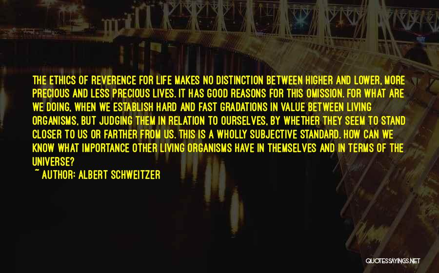 Good To Know Where I Stand Quotes By Albert Schweitzer