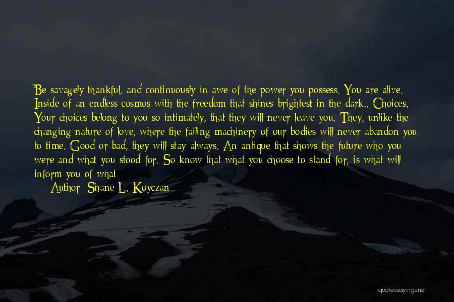 Good To Know Where I Stand Quotes By Shane L. Koyczan