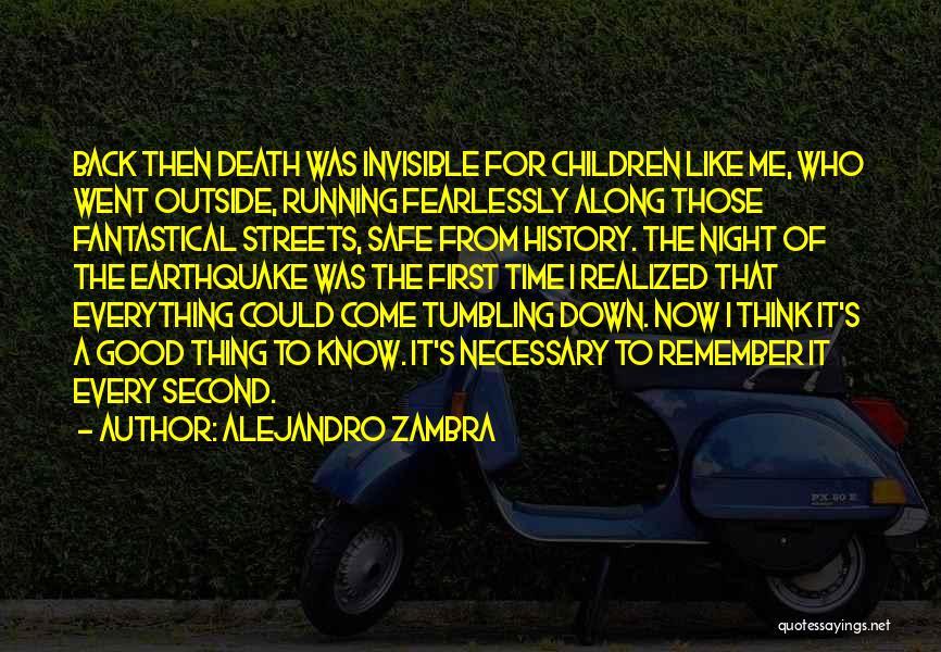 Good Tumbling Quotes By Alejandro Zambra