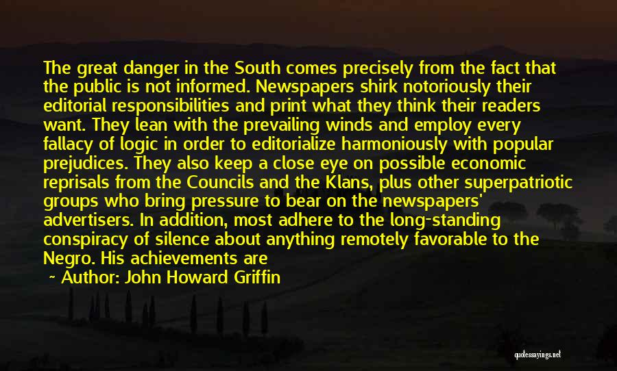 Good Winds Quotes By John Howard Griffin