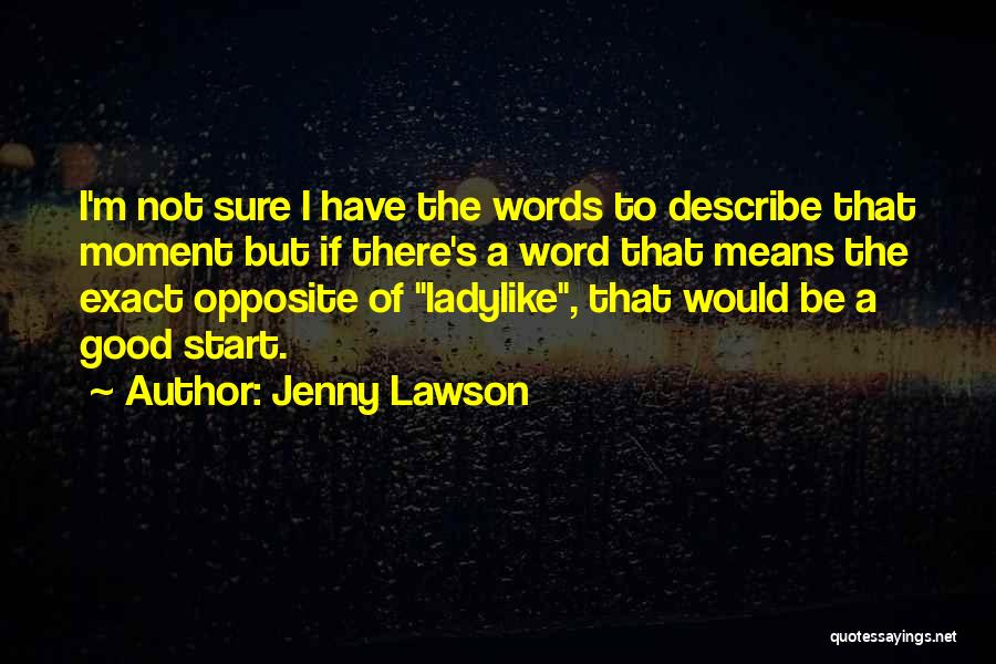 Good Words To Describe Someone Quotes By Jenny Lawson