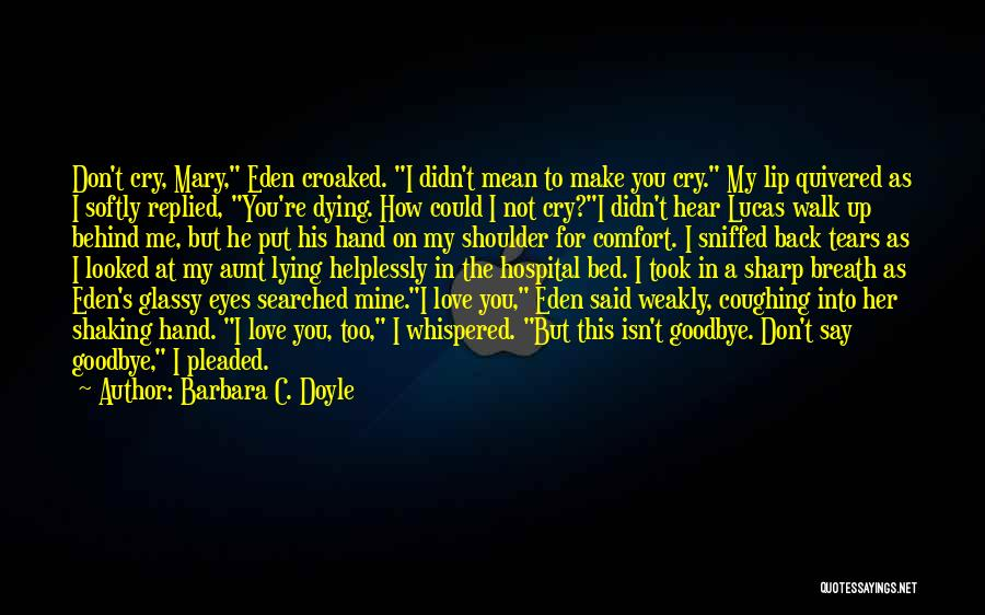 Goodbye In Her Eyes Quotes By Barbara C. Doyle