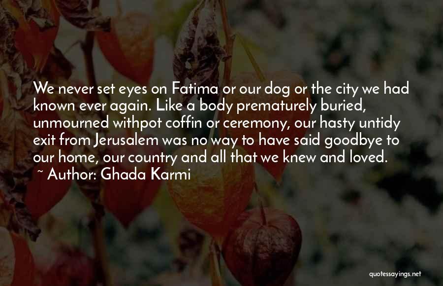 Goodbye In Her Eyes Quotes By Ghada Karmi