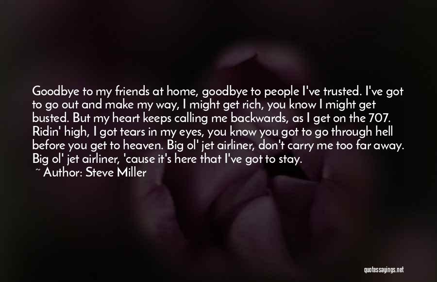 Goodbye In Her Eyes Quotes By Steve Miller