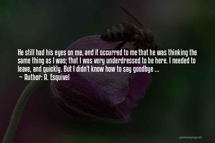 Goodbyes For Now Quotes By A. Esquivel