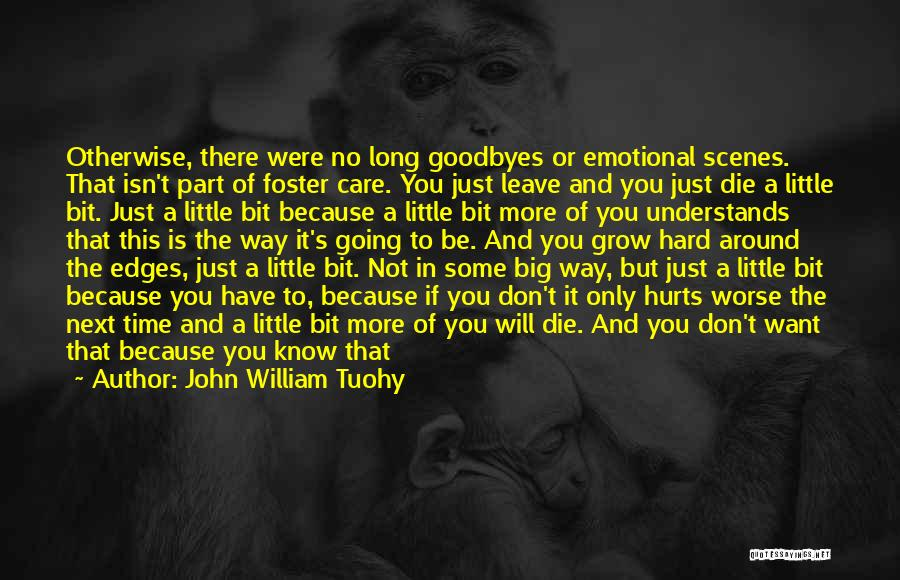 Goodbyes For Now Quotes By John William Tuohy