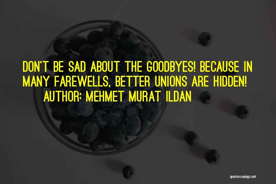 Goodbyes For Now Quotes By Mehmet Murat Ildan