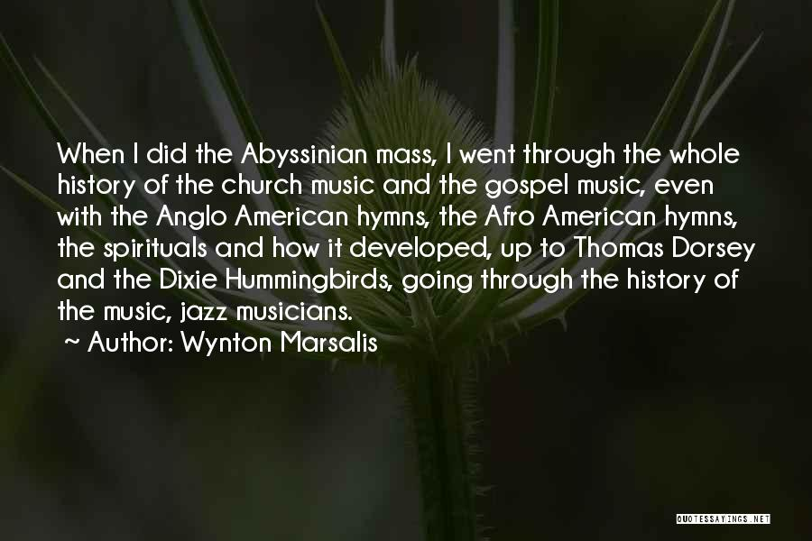 Gospel Music Quotes By Wynton Marsalis