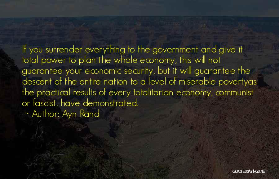 Government And Poverty Quotes By Ayn Rand