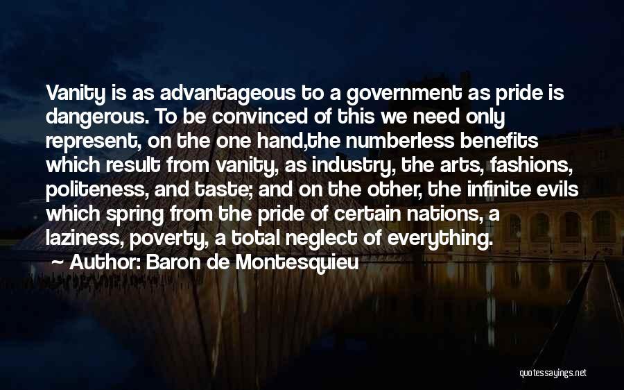 Government And Poverty Quotes By Baron De Montesquieu