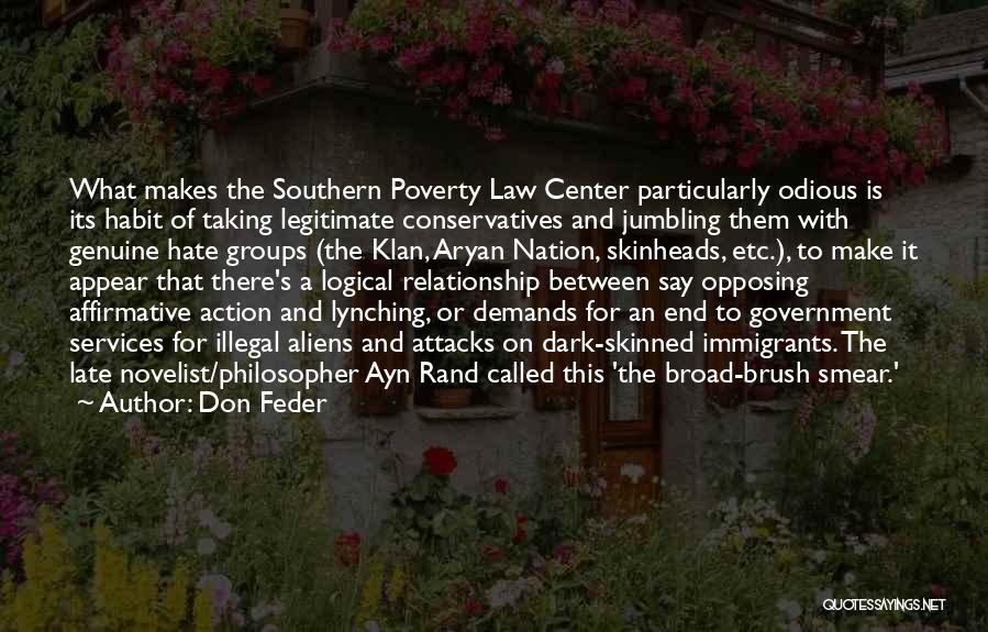 Government And Poverty Quotes By Don Feder