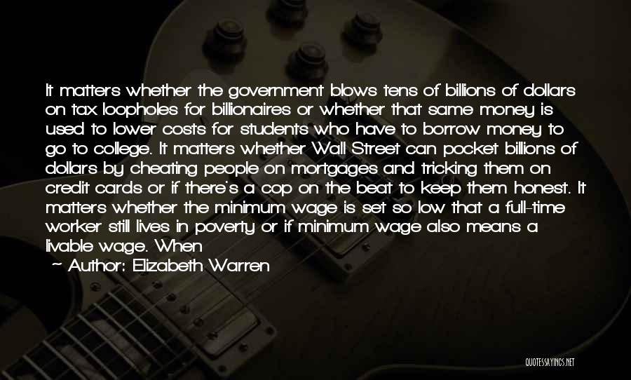Government And Poverty Quotes By Elizabeth Warren