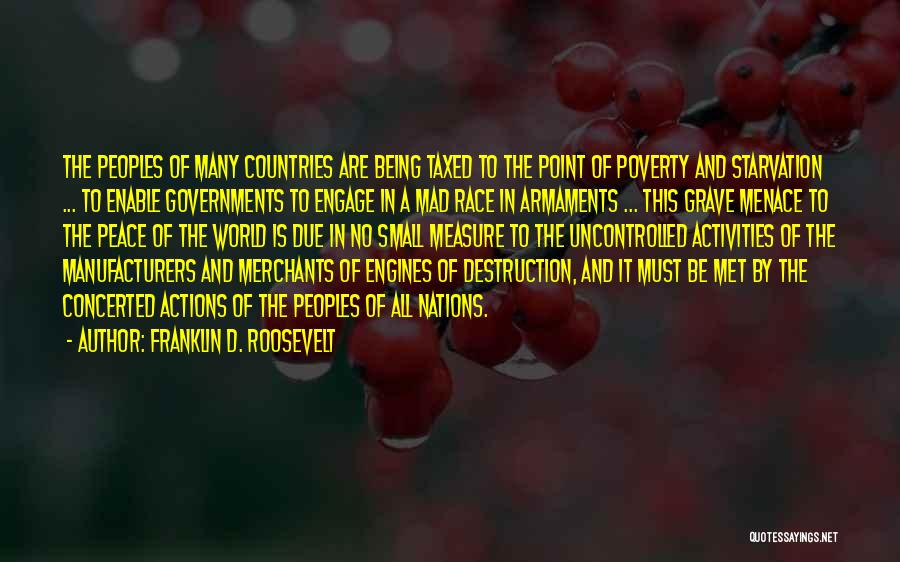 Government And Poverty Quotes By Franklin D. Roosevelt
