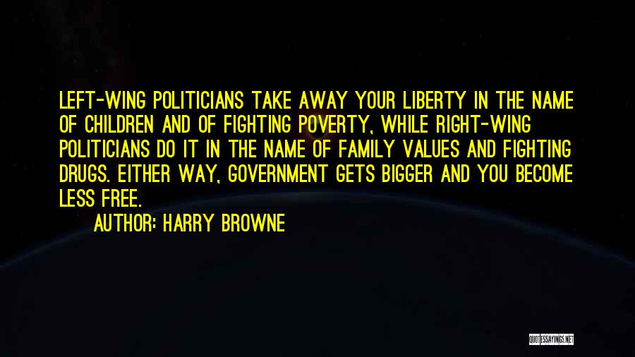 Government And Poverty Quotes By Harry Browne
