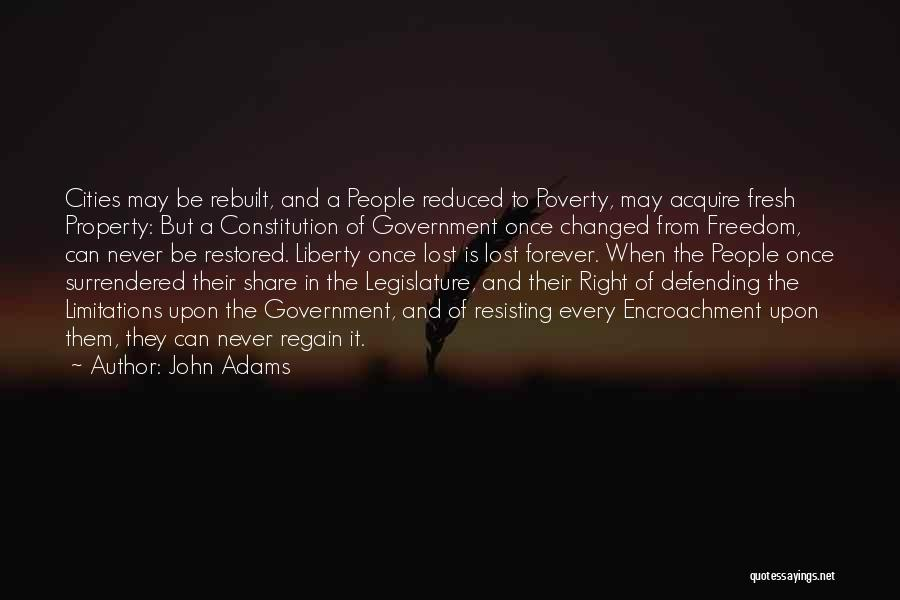 Government And Poverty Quotes By John Adams