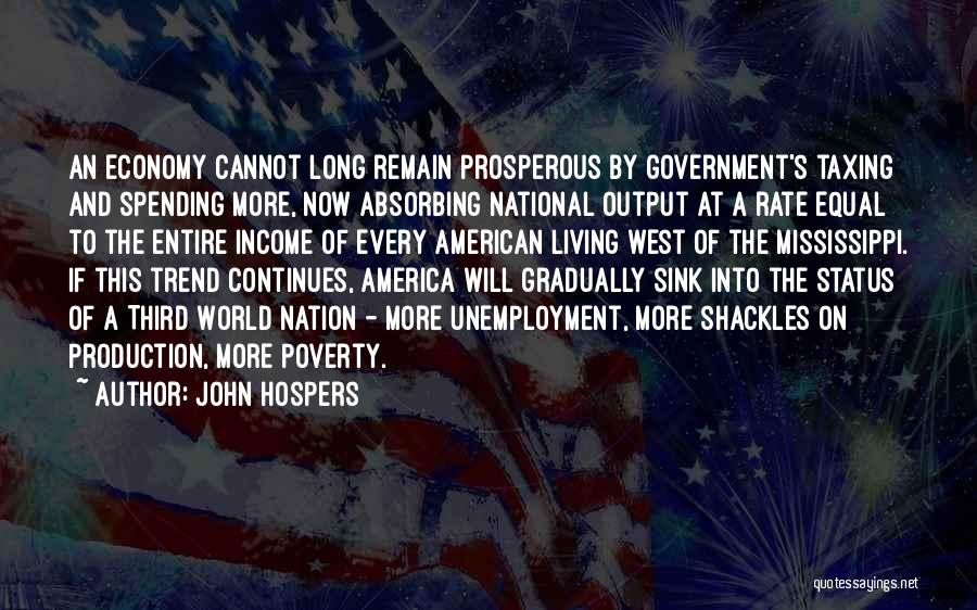 Government And Poverty Quotes By John Hospers