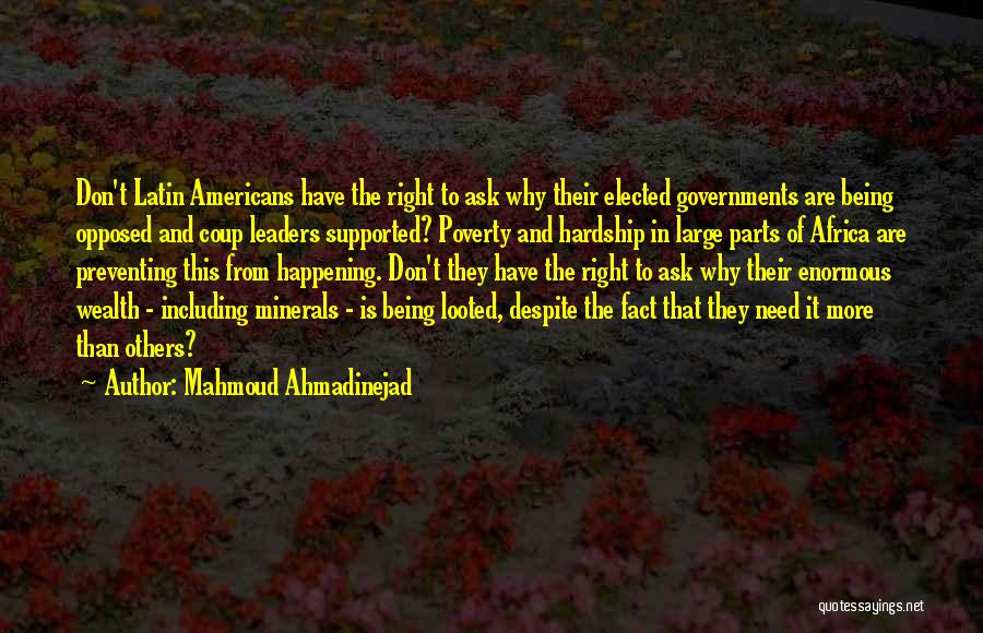 Government And Poverty Quotes By Mahmoud Ahmadinejad