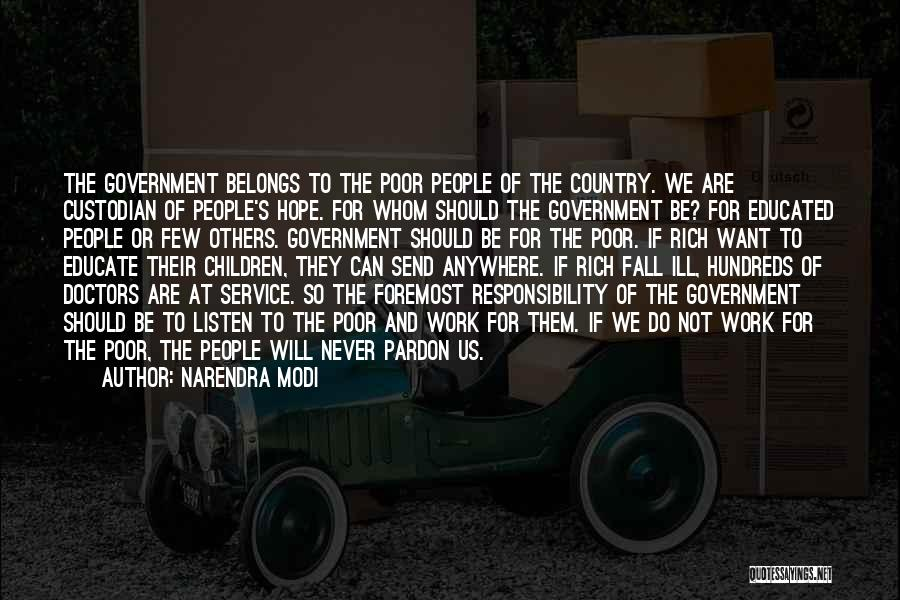 Government And Poverty Quotes By Narendra Modi