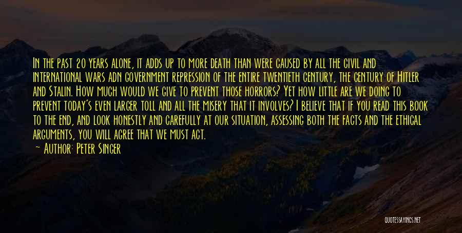 Government And Poverty Quotes By Peter Singer