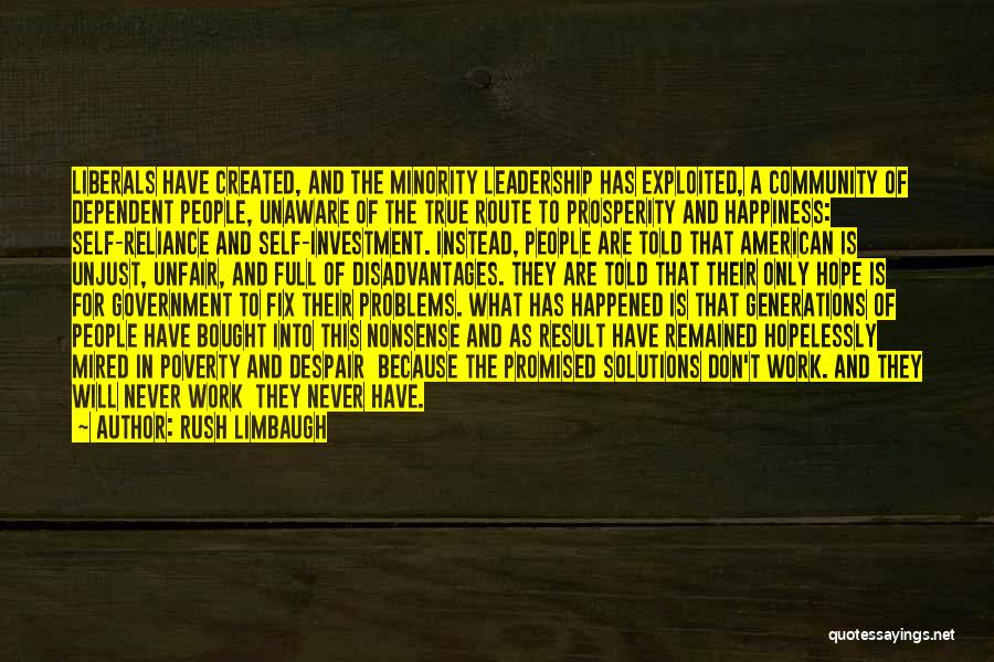 Government And Poverty Quotes By Rush Limbaugh