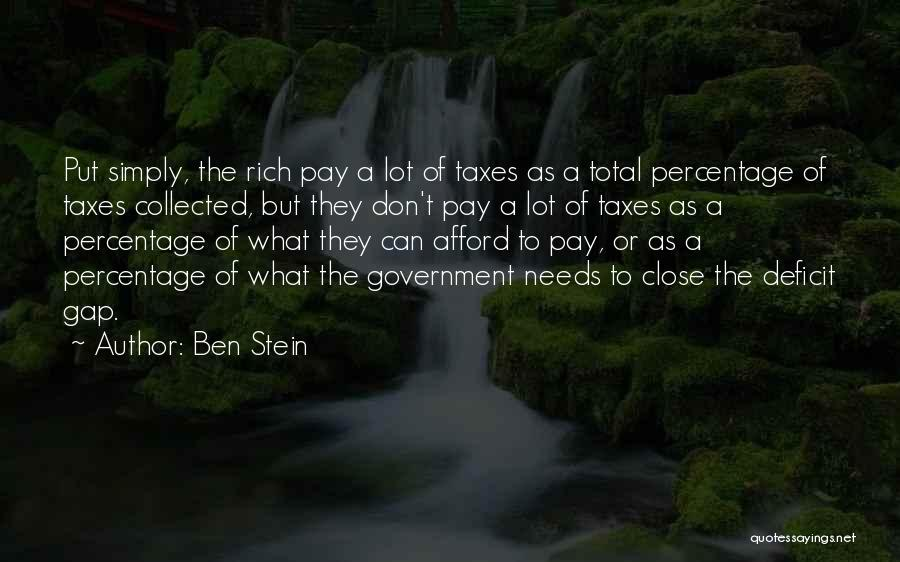 Government Deficit Quotes By Ben Stein