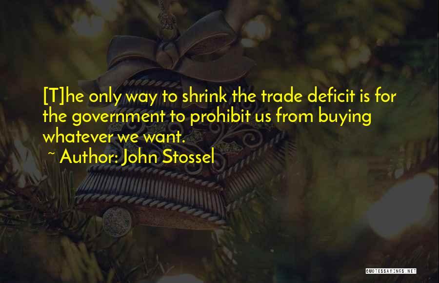 Government Deficit Quotes By John Stossel