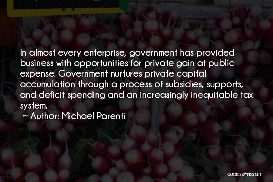 Government Deficit Quotes By Michael Parenti
