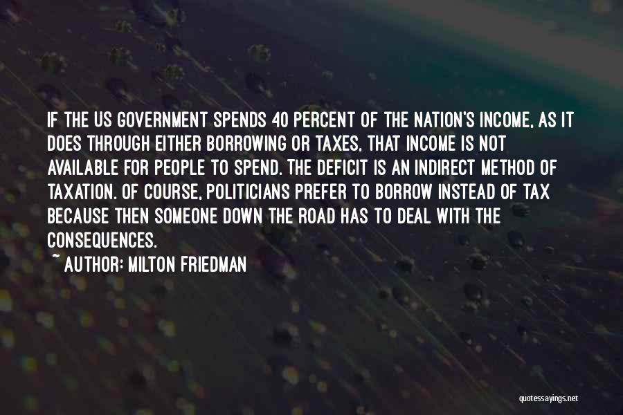 Government Deficit Quotes By Milton Friedman