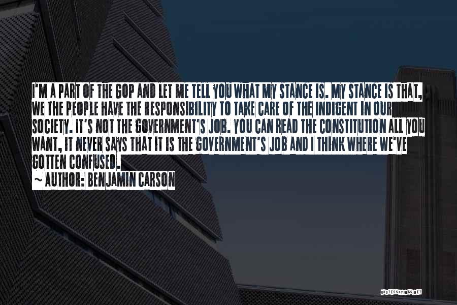 Government Job Quotes By Benjamin Carson