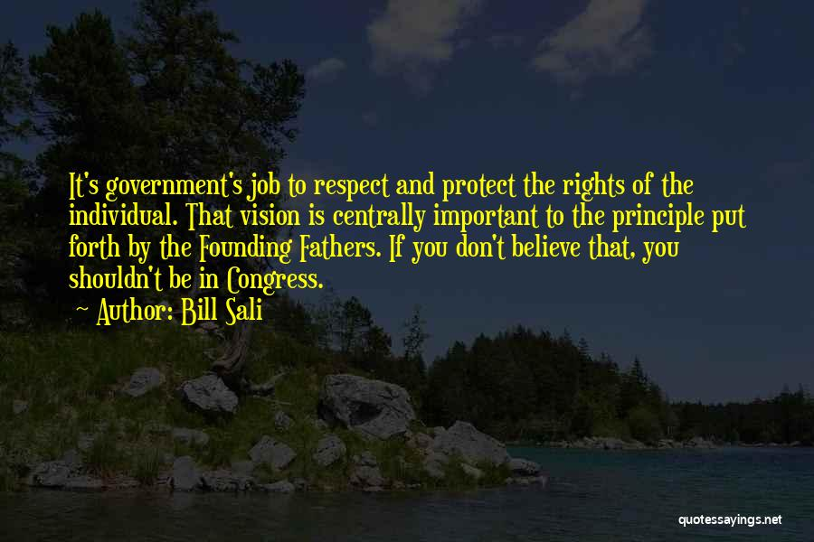 Government Job Quotes By Bill Sali